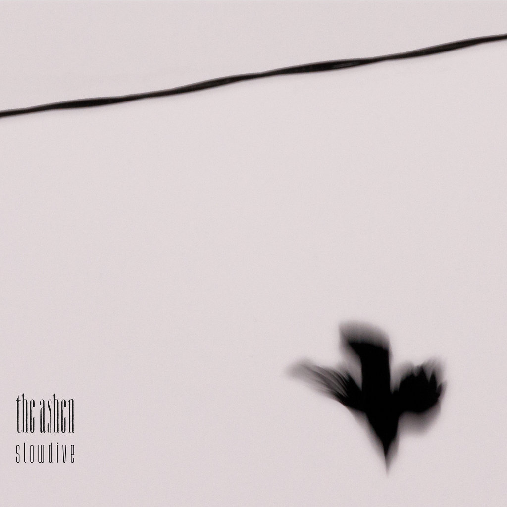 The cover Slowdive by the ashen contains an image of a blurred bird diving off from a wire