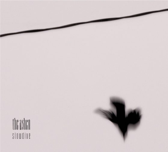 Cover of the album Slowdive by the ashen, it has an image of a bird diving from a wire